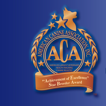 The American Canine Association ( ACA ) Star Breeder Program Raises the Bar For Dog Breeders in America.
